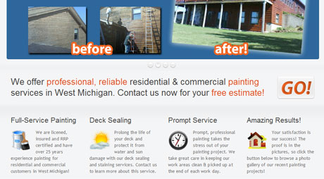 contractor website design grand rapids